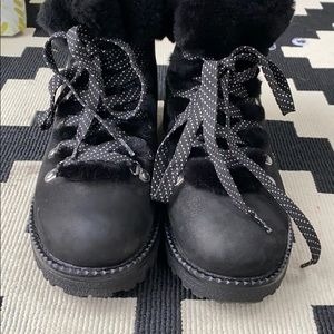 J. Crew black Nordic boots
